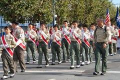 97.o desfile anual 2017 San Francisco, CA del día del ` s del veterano Imagen de archivo