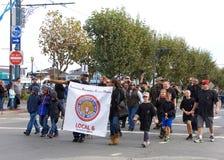 97.o desfile anual 2017 San Francisco, CA del día del ` s del veterano Fotografía de archivo