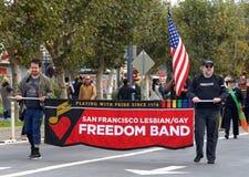 97.o desfile anual 2017 San Francisco, CA del día del ` s del veterano Foto de archivo libre de regalías
