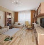 O design de interiores da sala de crianças, 3D rende Imagens de Stock