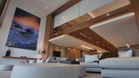 O design de interiores moderno da casa fotografia de stock royalty free