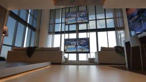 O design de interiores moderno da casa fotos de stock