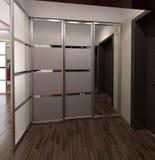 O design de interiores moderno do estilo de Salão, 3D rende Imagens de Stock Royalty Free