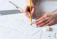 Detalhes do desenho da mão do interior Foto de Stock