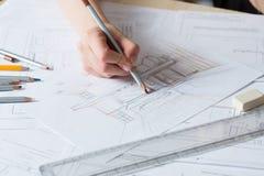 Detalhes do desenho da mão do interior Imagens de Stock