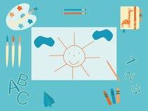 O desktop do bebê Fotos de Stock