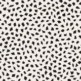 O desordem nervoso preto e branco sem emenda do vetor dá forma ao teste padrão de mosaico Fotografia de Stock