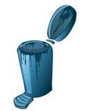 O desperdício azul Recycle do metal pode ilustração stock