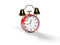 O despertador no fundo branco 3d rende Imagem de Stock