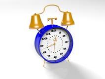 O despertador no fundo branco 3d rende Foto de Stock Royalty Free