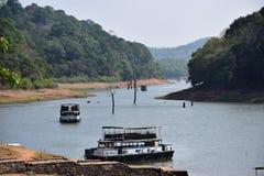 O destino famoso do turista em Thekkady foto de stock royalty free