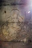 O detalhe de dançarinos do apsara cinzelou no complexo de Angkor Wat em Camboja Imagem de Stock