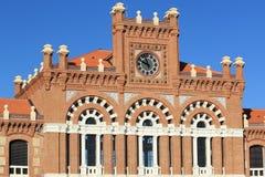 Construção da estação de comboio de Aranjuez fotos de stock