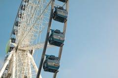 O detalhe de ferris roda dentro Dusseldorf, Alemanha Imagem de Stock Royalty Free