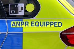 O detalhe de um ANPR equipou o carro-patrulha em Londres Imagens de Stock
