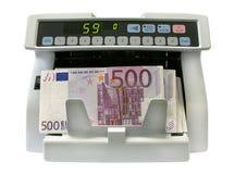 O detetor das notas de banco fotografia de stock