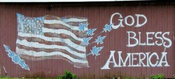 O deus abençoa América ~ estilo do celeiro Fotos de Stock