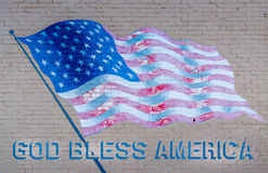 O deus abençoa a bandeira de América foto de stock