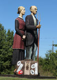 O deus abençoa a escultura de América pelo artista Seward Johnson em Hamilton, NJ Fotos de Stock Royalty Free