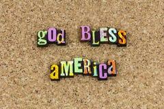 O deus abençoa a indicação patriótica de América imagem de stock