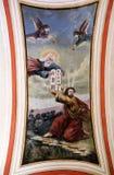 O deus dá a Moses os dez mandamentos foto de stock royalty free