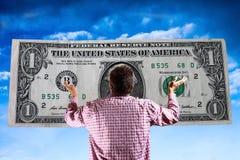 O deus do dinheiro - mundo materialista imagem de stock