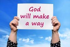 O deus fará uma maneira imagem de stock