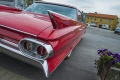 1961 o deville muito agradável de cadillac, detalhe voa Fotos de Stock