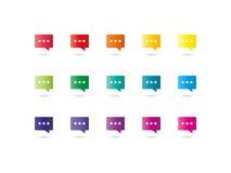 O diálogo do espectro nubla-se ícones Fotografia de Stock Royalty Free