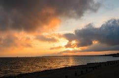 O dia D permanece por do sol Foto de Stock Royalty Free