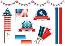 O Dia da Independência objeta a coleção Ilustração do Vetor