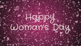 O dia da mulher feliz da animação, cartão ilustração do vetor