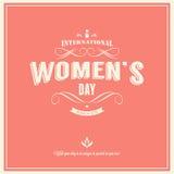 O dia da mulher internacional 8 de março ilustração royalty free