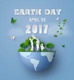 O Dia da Terra com família Fotografia de Stock