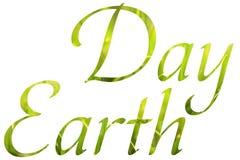 O Dia da Terra verde exprime o conceito foto de stock