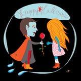 O Dia das Bruxas romântico Fotos de Stock Royalty Free