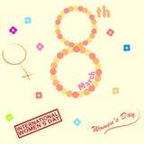O dia das mulheres ilustração stock
