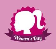 O dia das mulheres felizes ilustração do vetor
