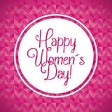 O dia das mulheres felizes ilustração royalty free