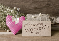 O dia das mulheres felizes Fotos de Stock