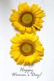 O dia das mulheres felizes internacionais - 8 de março cartão do feriado Imagens de Stock Royalty Free