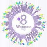 a50a39d8e O dia das mulheres s é figura oito com balão do círculo ilustração do vetor