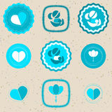O dia de mãe Badges e etiquetas Imagem de Stock Royalty Free