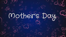O dia de mãe da animação, cartão ilustração royalty free