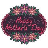 O dia de mãe feliz do cartão Fotografia de Stock Royalty Free
