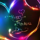 O dia de mãe feliz - estilo brilhante Foto de Stock Royalty Free