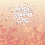 O dia de mãe feliz floral Foto de Stock Royalty Free