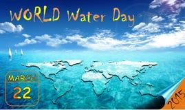 O dia de mundo para a água comemorou cada o 22 de março Fotos de Stock