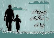 O dia de pai feliz Fotografia de Stock