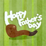 O dia de pai feliz com uma tubulação Imagem de Stock